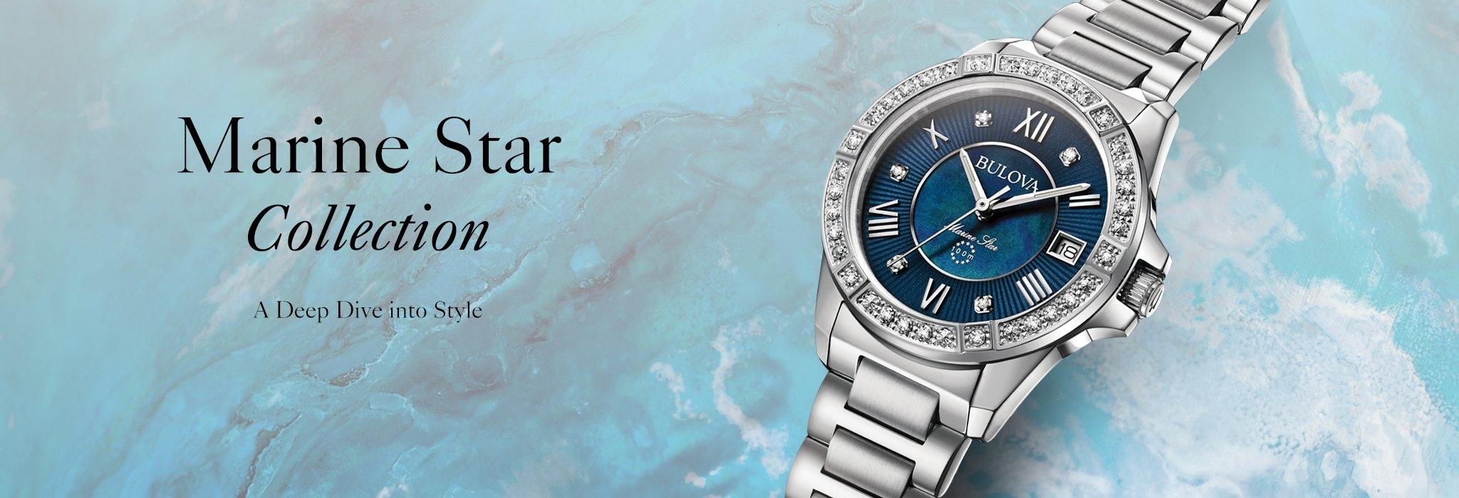 女士 Marine Star 系列钻石腕表