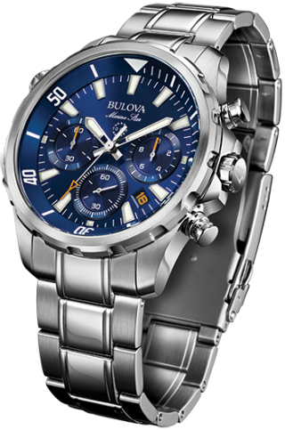 96B256 Men's Marine Star Chronograph Watch